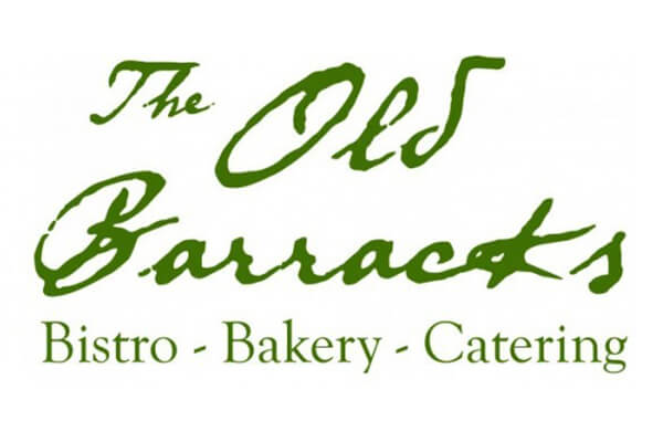Old Barracks Bakery green and white logo